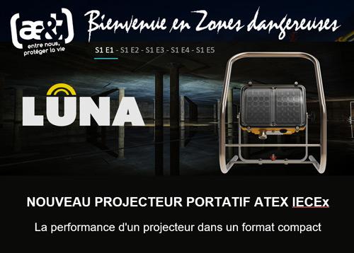 Nouveau projecteur portatif ATEX LUNA