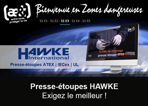 Guide d'installation presse-étoupes ATEX Hawke