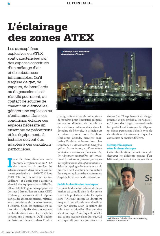 L'éclairage des zones ATEX : interview du chef de produit ATEX d'ae&t