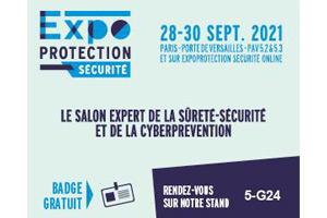 Notre présence à EXPOPROTECTION 2021 - Paris